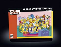 At Home With The Simpsons jigsaw puzzle