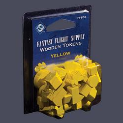 Fantasy Flight Wooden Tokens - Yellow
