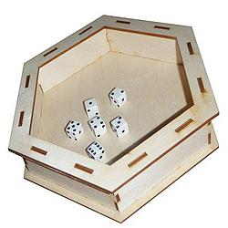 Hex Wooden Dice Tray