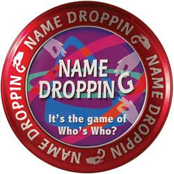 Name Dropping party game in a tin