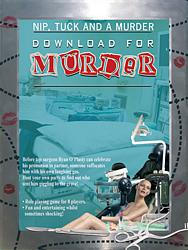 Nip, Tuck and a Murder, murder mystery party download kit