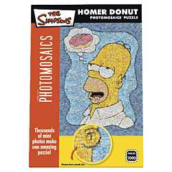 The Simpsons Photomosaics Puzzle - Homer Donut jigsaw