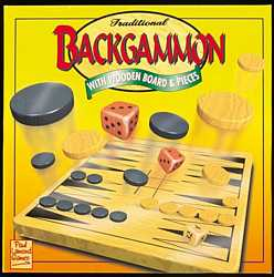 Traditional Backgammon with wooden board and pieces