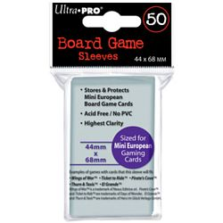 Ultra Pro Board Game Card Sleeves - Mini European