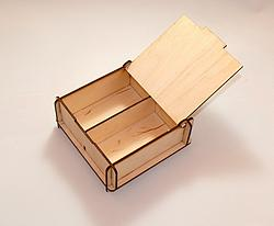 Wooden Storage Box with 2 compartments