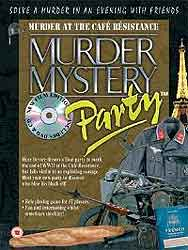 Murder at the Cafe Resistance, Murder Mystery Party download kit