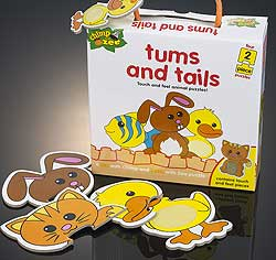 Tums and Tails 2-piece puzzles
