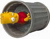 The Simpsons wind up - Bart in Trash Can