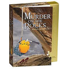 Murder on the Rocks mystery jigsaw puzzle